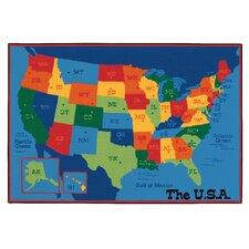 Value Plus USA Map Area Rug