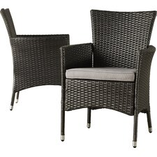 Mcnealy Dining Arm Chair with Cushion (Set of 2)