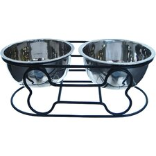 Wrought Iron with Double Bowls