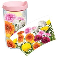 Garden Party Chrysanthemums Tumbler with Lid