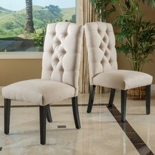 Tufted Linen Side Chairs (Set of 2)