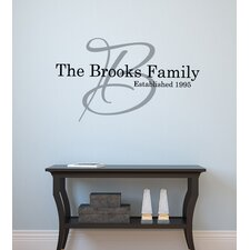 Personalized Signature Family Monogram Wall Decal