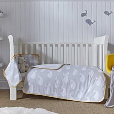 Whales 2-Piece Cot Bedding Set