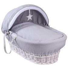 Silver Lining Wicker Moses Basket