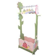 Magic Garden Dress-Up Valet Rack with Set of 4 Hangers
