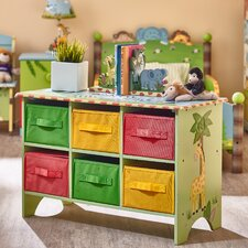 Sunny Safari Portable 6 Compartment Cubby with Bins