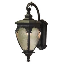 Fleur de Lis 1-Light Outdoor Wall lantern