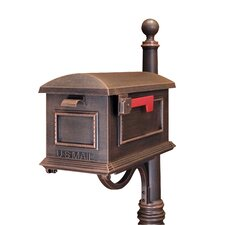 Traditional Post Mounted Mailbox