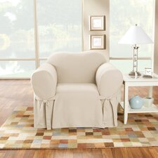 Cotton Duck Arm Chair Slipcover