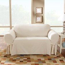 Cotton Duck Sofa Skirted Slipcover
