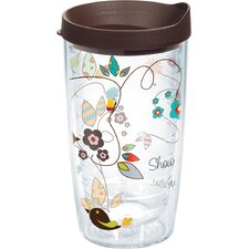 Garden Party Trendy Bird Tumbler with Lid
