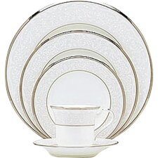 Silver Palace Bone China 5 Piece Place Setting, Service for 1