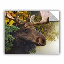 A Spruce Moose by Chris Vest Wall Mural