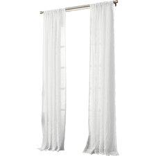 Leland Solid Semi-Sheer Rod Pocket Single Curtain Panel