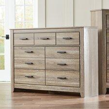 Orange 7 Drawer Dresser