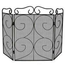 Tapton 3 Panel Steel Fireplace Screen