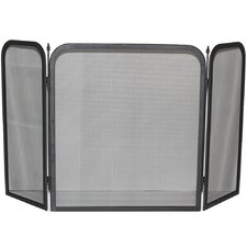 Roxby 3 Panel Steel Fireplace Screen