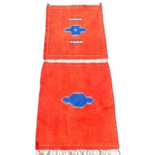 Berber Kilim Hand-Woven Red Area Rug
