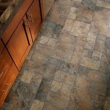 """Stones and Ceramics 15.94"""" x 47.75"""" x 8.3mm Tile Laminate in Weathered Way Euro Terracotta"""