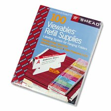 Viewables Pack Refill Labeling System, 100/Box