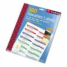 Viewables Pack Refill Labeling System, 160/Pack