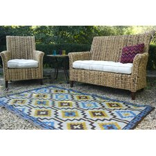 Madawaska Mint/Brown/Blue Rug