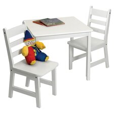 Alexa Kids' 3 Piece Table and Chair Set