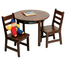 Alexa Kids 3 Piece Oval Table and Chair Set