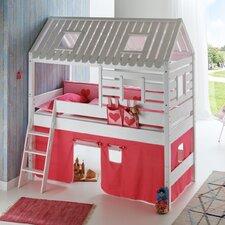 Halbhochbett Kim mit Dachaufbau Tom´s Hütte, 90 x 200 cm