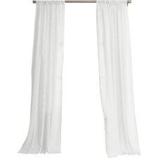 Hyannis Solid Sheer Rod Pocket Single Curtain Panel