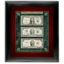 U.S. Historic Currency Collection Framed Memorabilia