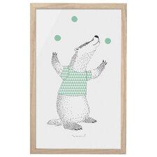 Juggling Badger Framed Art