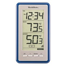 Large-Digit Indoor / Outdoor Spot Thermometer and Clock