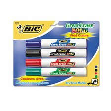 Great Erase Bold Dry Erase Chisel Tip Markers (4/Pack) (Set of 2)
