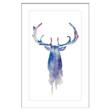 'Moose Paint' Framed Painting Print