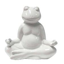 Ceramic Yoga Frog Meditation Décor Figurine