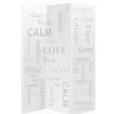 150cm x 120cm Words 3 Panel Room Divider