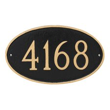Classic 1-Line Wall Address Plaque