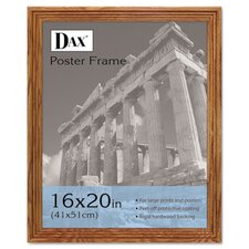 plastic poster frame traditional with clear plastic window 16 x 20 medium oak