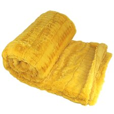 Garret Faux Fur Throw Blanket