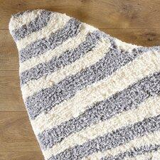 Zebra Stripe Silver Rug