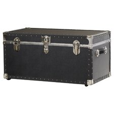 Oversize Trunk with Wheels in Black