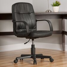 Mid-Back Leather Desk Chair