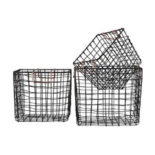 3 Piece Square Nesting Wire Basket Set