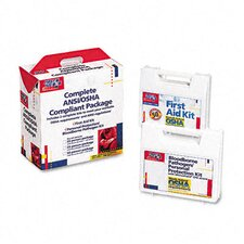First Aid Kit for 50 People, 229 Pieces, Ansi/Osha Compliant, Plastic Case