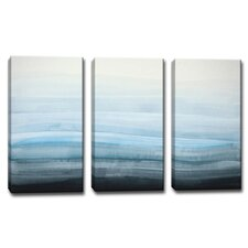 'Coastal Mist' by Norman Wyatt Jr. 3 Piece Painting Print on Wrapped Canvas Set