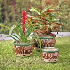Dieren 3-Piece Ceramic Pot Planter Set