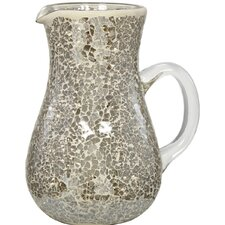 Tiled Jug Vase with Glass Handle