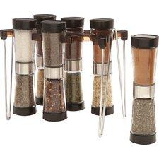 Hourglass 6 Jar Spice Jar & Rack Set
