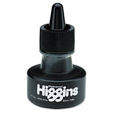 Higgins Waterproof India Ink For Art/Technical Pens, 1 Oz Bottle (Set of 2)